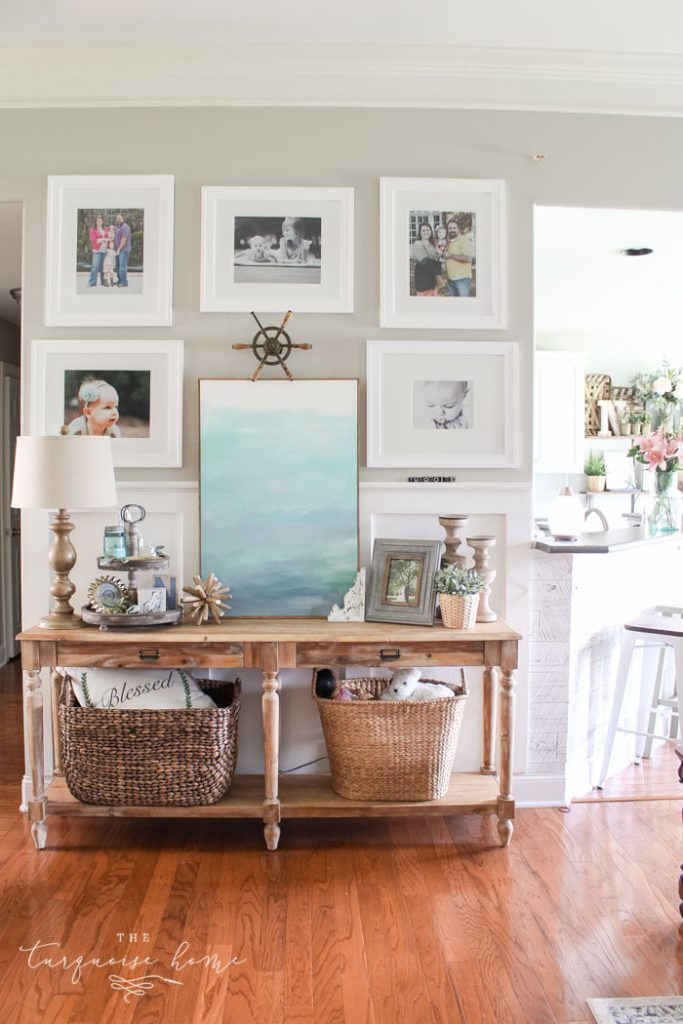 Summer Gallery Wall and Everett Console Table