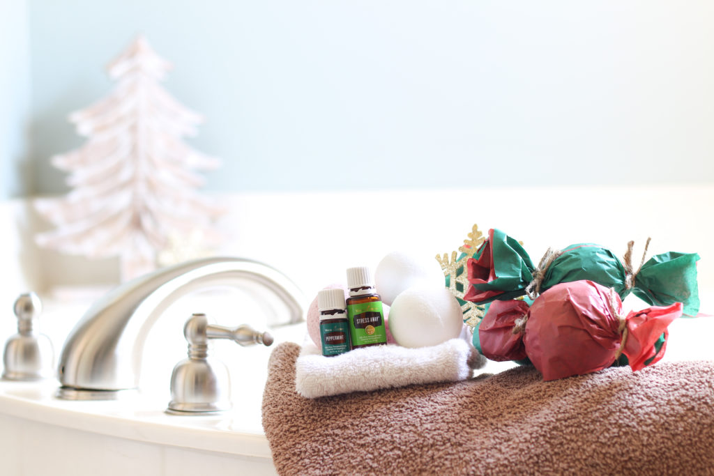 Make bath bombs look like Christmas candy and give as gifts!